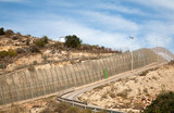 High security fences separate the Spanish exclave of Melilla, Spain from Morocco, north Africa, January 2015 - 238338423