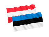 Flags of Estonia and Austria on a white background - 238340650