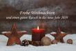 Leinwanddruck Bild - Frohe Weihnachten