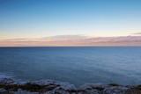 Clouds On Horizon Winter Sunrise