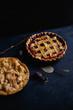 Leinwanddruck Bild - Apple pie and pie with berries