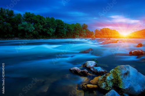 Foto Murales River water and sun