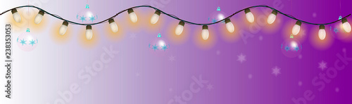 Glowing bulbs, garlands, Christmas decorations. Can be used as a design element for the design of websites, books, magazines. - 238353053