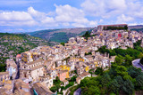 panorama of Ragusa Sicily Italy