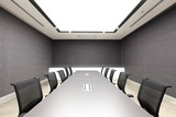 the empty meeting room space