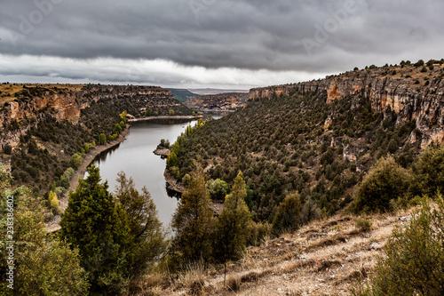 Duraton Canyon panorama. Segovia, Castilla y Leon. Spain - 238386602