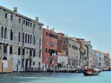 gondolas on water street in Venice