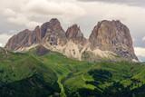 Wonderful view of Sassolungo . Dolomites. Italy.