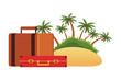 travel suitcase with island