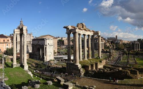 Panoramic view of ruins from Roman Empire (Roman Forum)