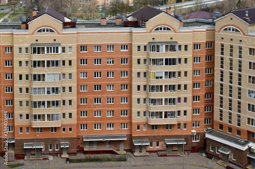 Top view of sleeping area in Zelenograd administrative district Moscow, Russia