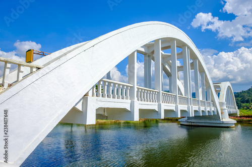 Fototapeta White Railway Bridge in Lamphun, Thailand