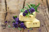 natural soap and herbs