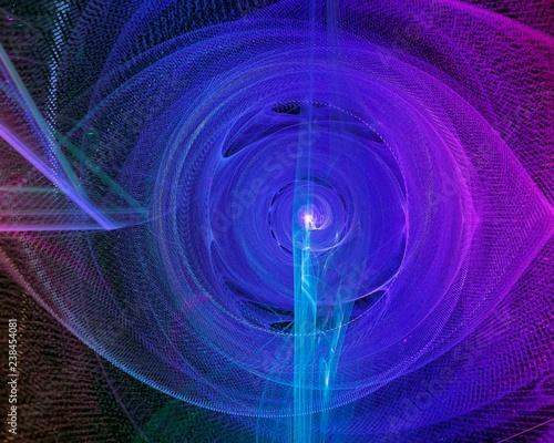 abstract digital fractal, fantasy design - 238454081