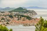 view of town of dubrovnik in croatia, digital photo picture as a background