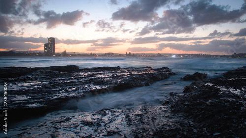 Sunset Sunrise Ocean Long Exposure Currumbin beach Wave Background