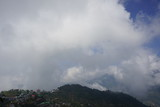 blue sky and mountain of Himachal Pradesh in India
