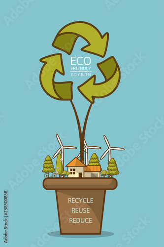 Vector illustration of eco home - 238500858