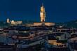 Quadro florence night view on illuminated palazzo vecchio