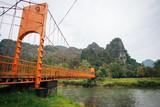 Orange Bridge at Vang Vieng Laos