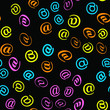 E-mail and letter. Seamless vector EPS 10 pattern