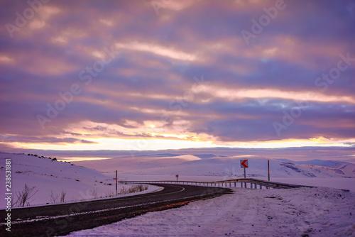 highway in snow