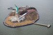 Aerial View of Liberty Island New York