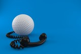 Golf ball with telephone handset