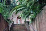 Scalinata  rococò con foglie di palma