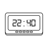 digital clock time on white background - 238580067