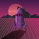 rocket planet digital futurist science - 238580448