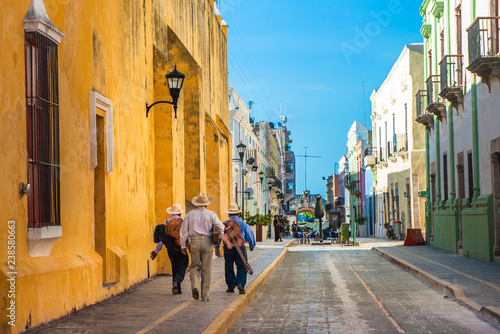 Mariachi on the streets of colonial Campeche city, Mexico