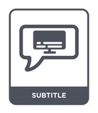 subtitle icon vector