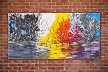 "Постер, картина, фотообои ""Surreal nature, colorful original oil painting"""