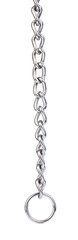 silver long chain. Brilliant silver chain isolated on white background © cloud7days