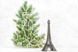 Eiffel Tower Christmas tree decoration Symbol Paris France