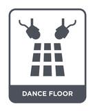 dance floor icon vector - 238607046