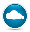 Cloud icon special prime blue round button