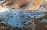 geothermal landscape on Icelandic lands - 238616218
