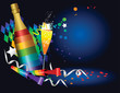 New Year rainbow party background