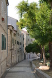 The narrow streets of Split
