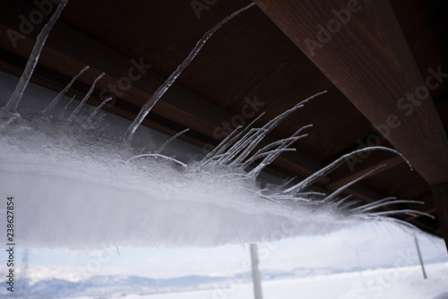 Driven By Winter Wind >> Icicles On A Roof Are Driven Away By The Wind Buy Photos Ap