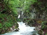Thur River Canyon in Unterwasser - Canton of St. Gallen, Switzerland