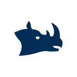 Isolated rhino icon symbol on clean background. Vector rhinoceros element in trendy style. - 238637034