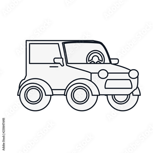 car jeep isolated icon - 238647648