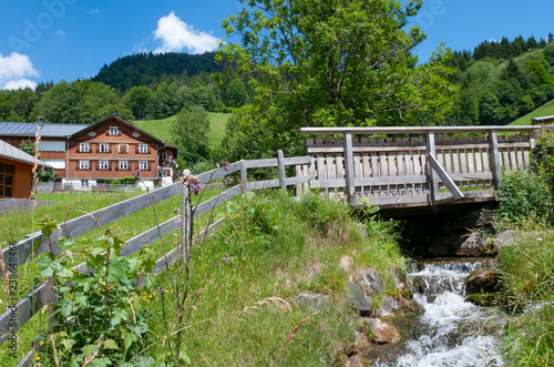 Fototapeta Country view of Vorarlberg