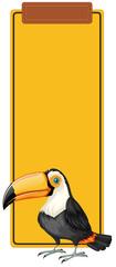 Toucan book mark concept © blueringmedia