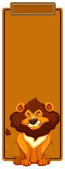 Lion book mark concept © blueringmedia