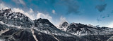 Himalayas mountain landscape. Panoramic view of Himalaya peaks. India.