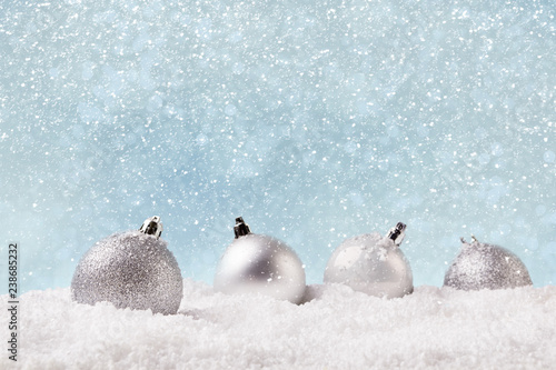 New Year background with christmas tree decorations